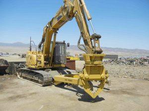 SAS Forks installed on excavator