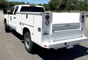 White work-ready truck with Knapheide Truck Body