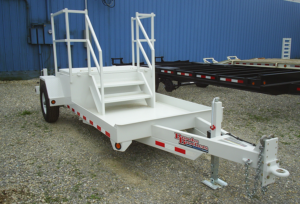 Brooks Brothers trailer for utility truck, available at Utility Equipment Services
