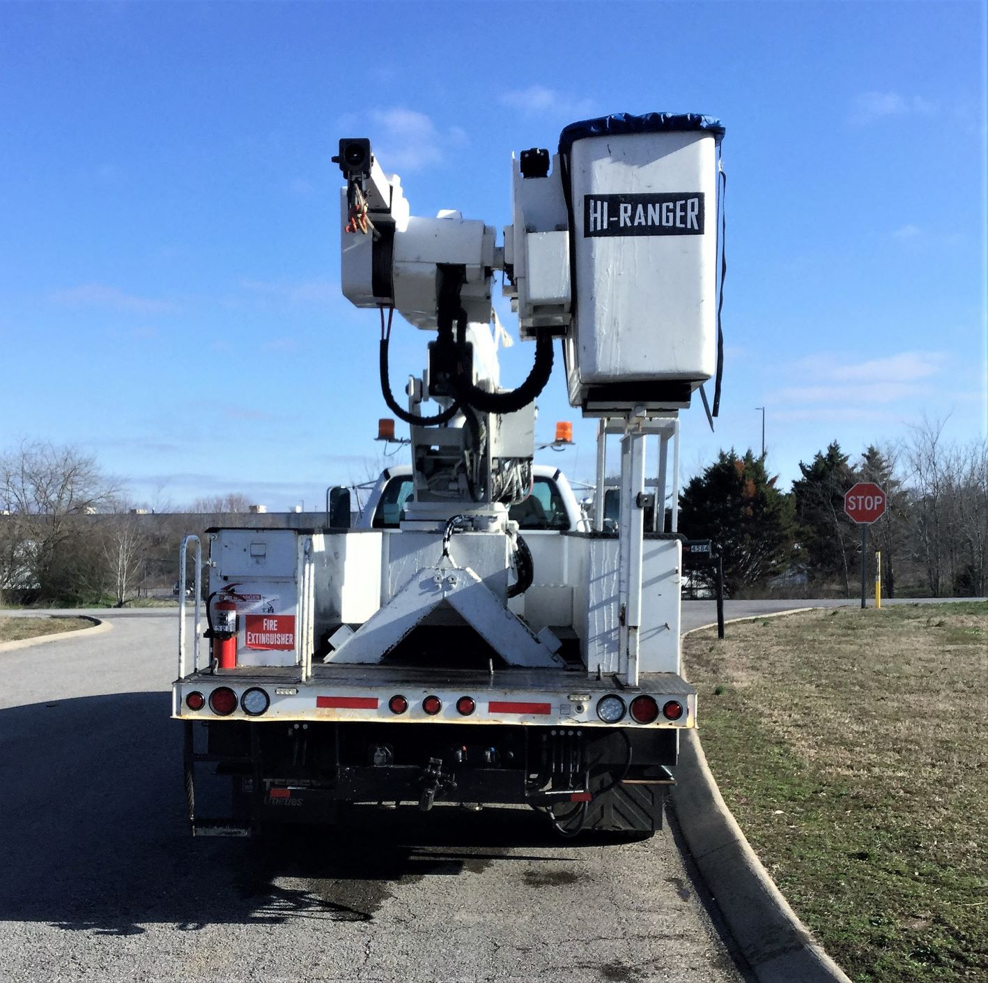 back view of large bucket truck for Sale from Utility Equipment Service in Spring Hill TN